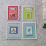 Set of 4 Gift Cards Boy/ Girl/  Unisex  Birthday/ Any Occasion