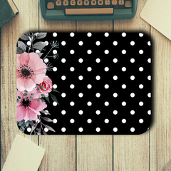 Flowers & Polka Dots - Rectangle Mouse Pad