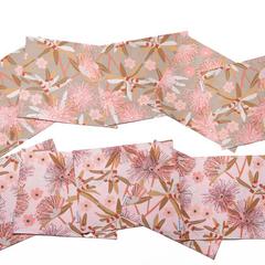 Australian native floral reversible placemat - Little Penda