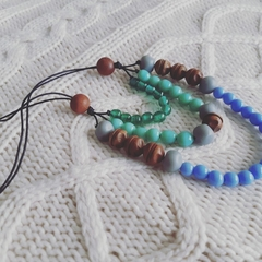 Beaded 3 strand necklace
