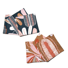 Australian native floral reversible coaster - Banksia
