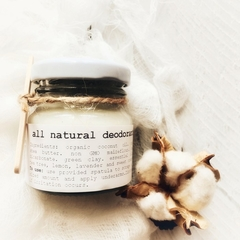All natural deodorant 40g