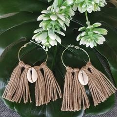 Boho Tassel Shell Earrings