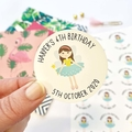 Personalised Stickers for Birthdays, Custom Birthday Stickers - FUL004