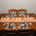 Australian native floral reversible placemat - Banksia