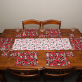 Australian native floral reversible table runner - Eucalypt flowers