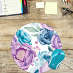 Watercolour Flowers - Round Mouse Pad
