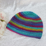 Aqua, Blue, Raspberry, Mustard and Green Pure Wool Beanie