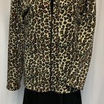 Ladies polar fleece jacket in animal print