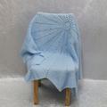 Baby Blue Crochet Star Blanket