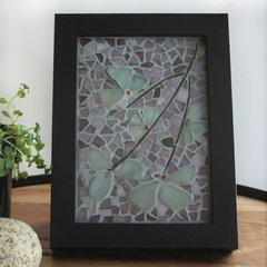Framed seaglass flowers...