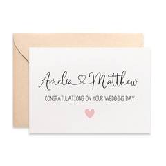 Personalised Wedding Card for the Bride and Groom, Custom Wedding Card, WED082
