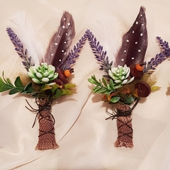 Woodlands Boho Buttonholes