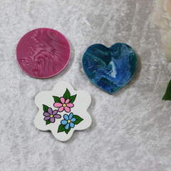 Set of 3 Painted Fridge Magnets