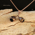 Real eucalyptus gum nut pendant necklace - copper plated