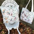 Australian Kokaburra linen cushion cover & linen tote - gift pack.