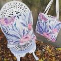 Australian flora - linen cushion cover & tote