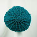 Hat loose back, Teal, 100% machine washable Australian wool