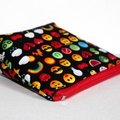 Pouch with flat bottom in Emoticon Fabric