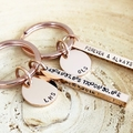 Inspiration Keyring, Hand Stamped Keyring, Bar Keychain, Four Sided Bar Keyring