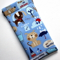 Padded Sunglasses Pouch in Cute Dog Fabric