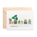 Indoor Plant Card, Womens Birthday Card, Birthday Card Female, HBF183