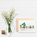 Indoor Plant Card, Womens Birthday Card, Birthday Card Female, HBF183