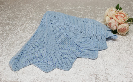 Baby Blue Crochet Star Blanket