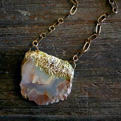 Eclectic, eco, earthy, rustic, ancient Western Australian rock slice pendant
