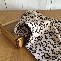 Infinity Scarf - double loop scarf - Blush Pink Leopard