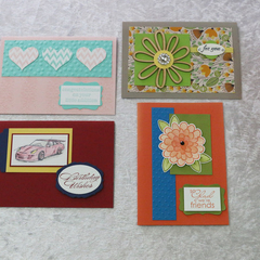 Set of 4 Cards  Baby /Birthday /Any Occasion