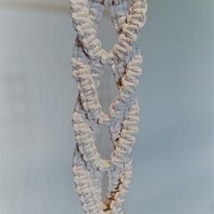 'Braided' macramé plant hanger