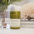 """Chardonnay"" soy wax candle in recycled wine bottle"