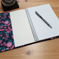 Australian Pink Flowering Gum A5 Fabric Journal Cover with Elastic Closure