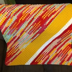 "Bright and Sunny Blanket - 36"" by 36"""