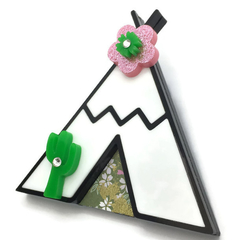 Teepee & Cactus - ONLY ONE - Acrylic Brooch