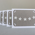 Note Card Italian Grey with Mini Star Garland
