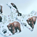 Watercolour bear bib