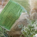 Homemade herbal moth bags, homegrown herbs and organic muslin. natural repellent