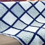 Shades of Blue Crocheted Blanket