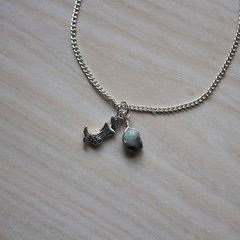 Mermaid and Larimar Silver Anklet