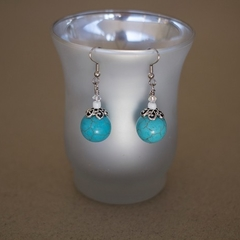 Turquoise Blue Gemstone Earrings