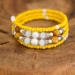 Boho Yellow Gemstone Bracelet