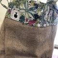 Recycled Coffee Burlap Bag. Lrg Grocery/Shopping Tote -  Jungle