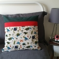 Pocket Pillow | Perfect for PJs, Books and Technology | Dinos | Storybook Pillow