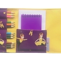 Emma Pencil Wallet,  pencil case, drawing set, travel toy