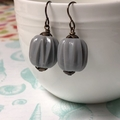 deco grey...Vintaj Brass and Vintage Lucite Earrings