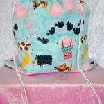 Large Drawstring Bag - Nursery Rhyme Central Design