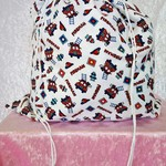Large Drawstring Bag - Firetrucks Design