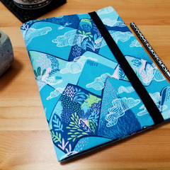 A5 Forest Cloud Travelers Journal Cover with Elastic Closure